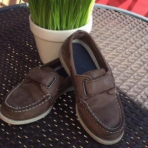 Sperry Brown Velcro Size 11.5 Boys